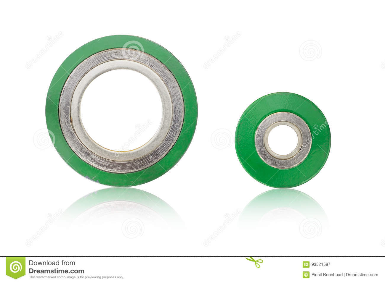 Spiral Wound Gasket Stainless Steel Outer Ring Graphite In