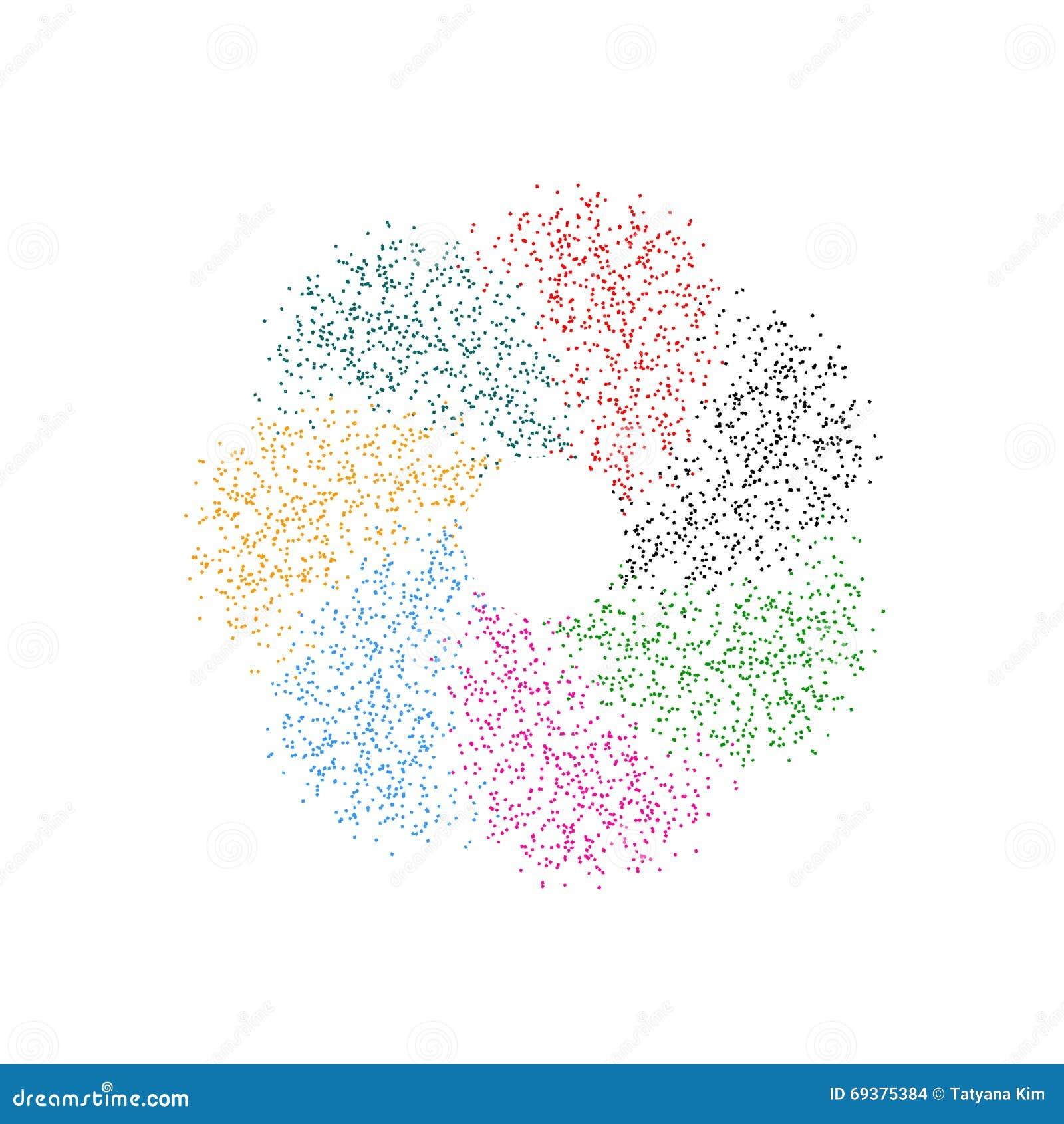 Spirale des miettes multicolores