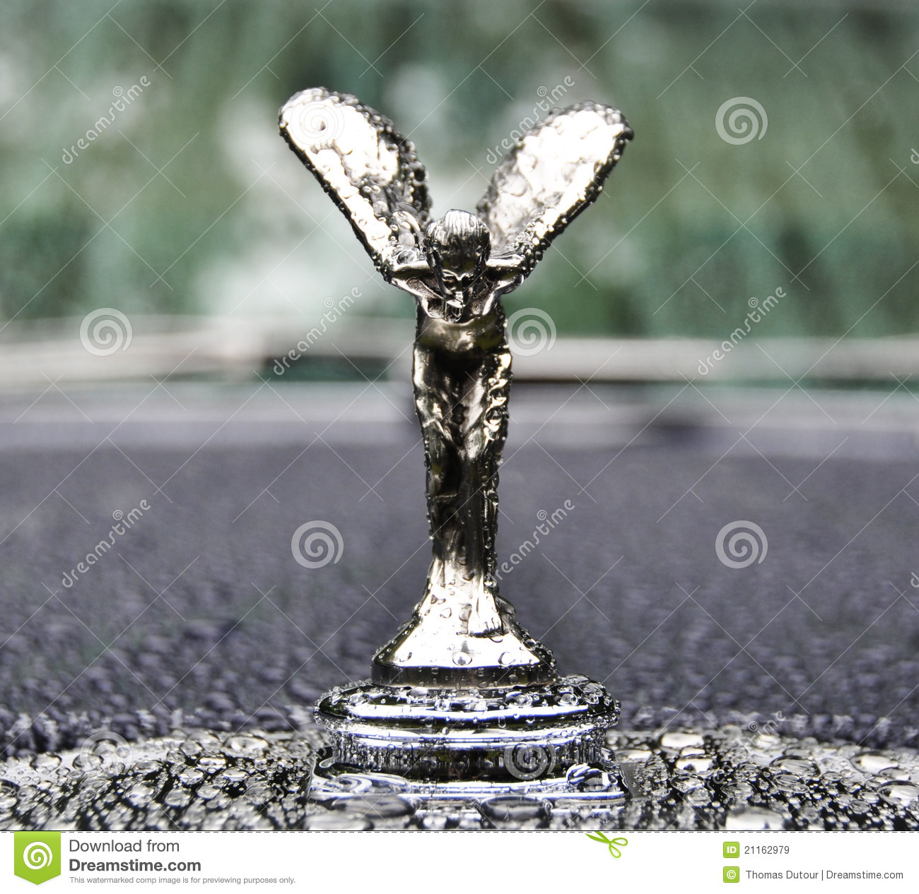 Spirit Of Ecstasy Symbol Of Rolls Royce Editorial Stock