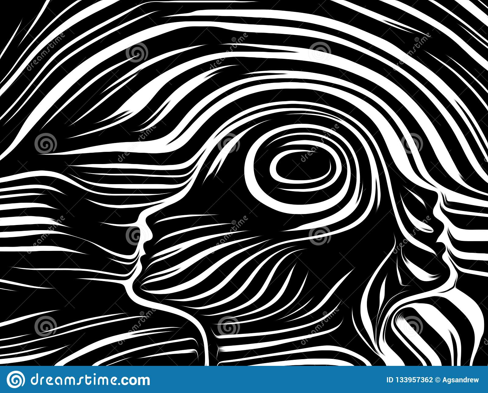 Spirit of Inner Lines stock illustration  Illustration of meaning