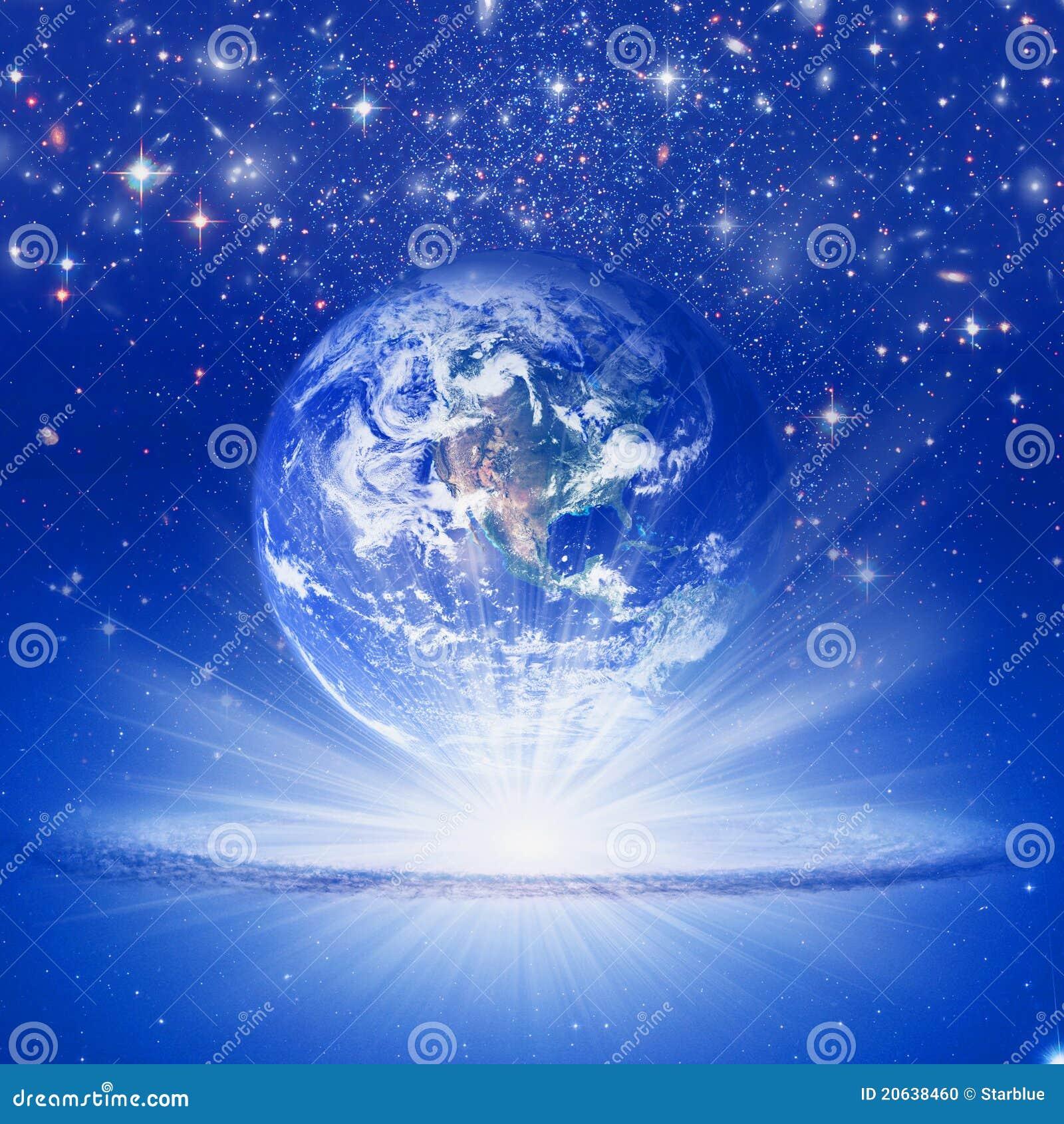 Spiritual: Spiritual Earth Stock Photo
