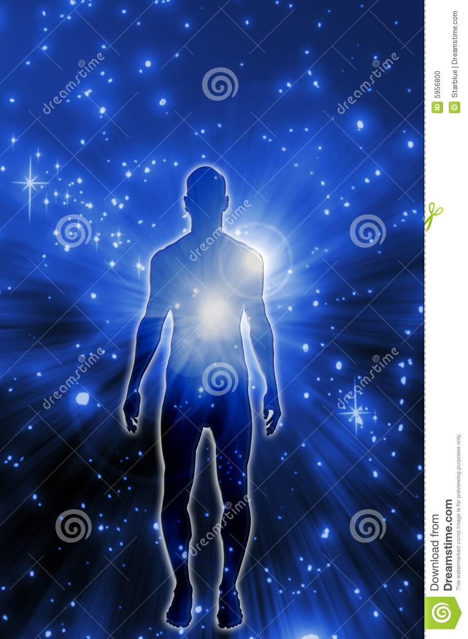 spiritual energy stock photo