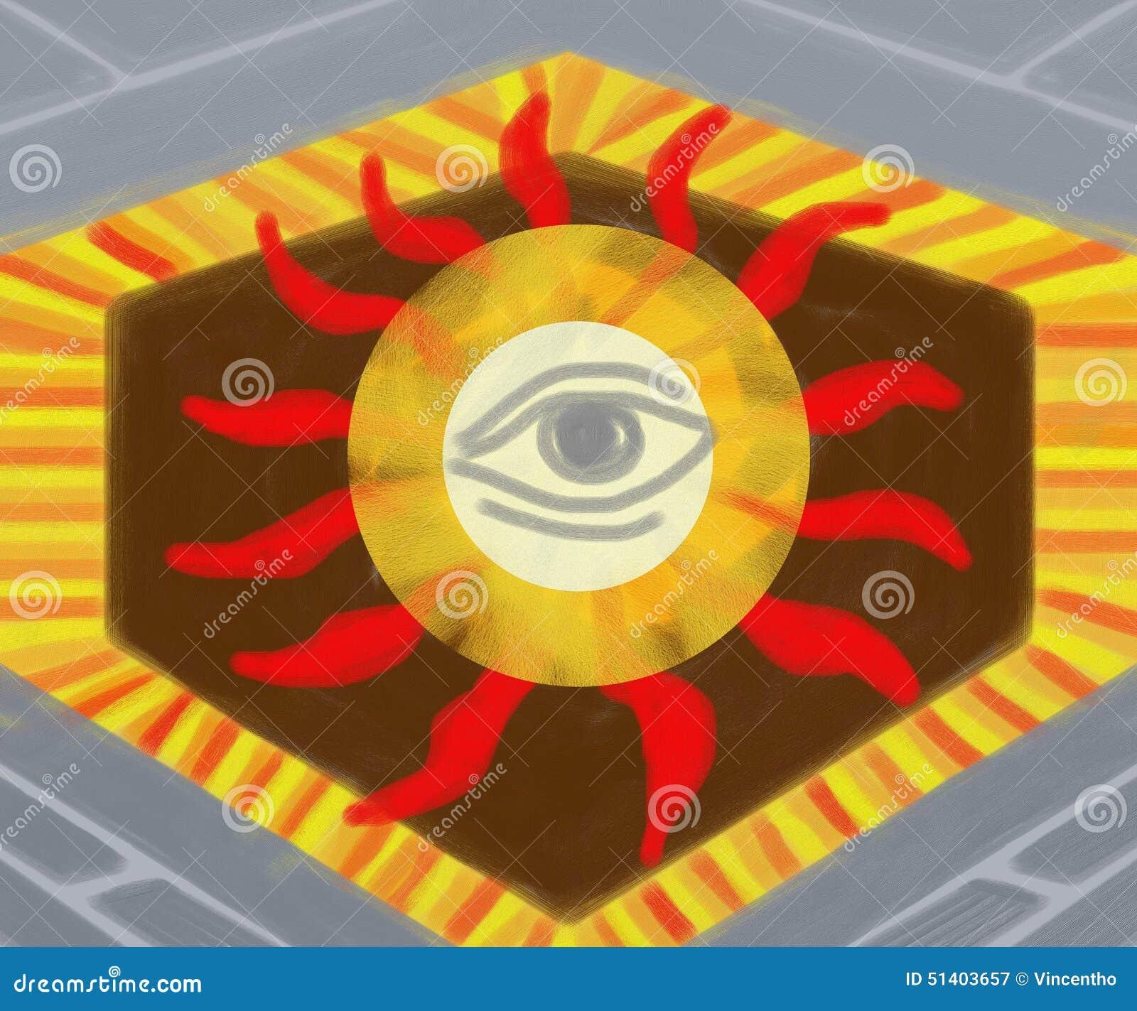 Illuminati Stock Illustration Illustration Of Decor 51403657