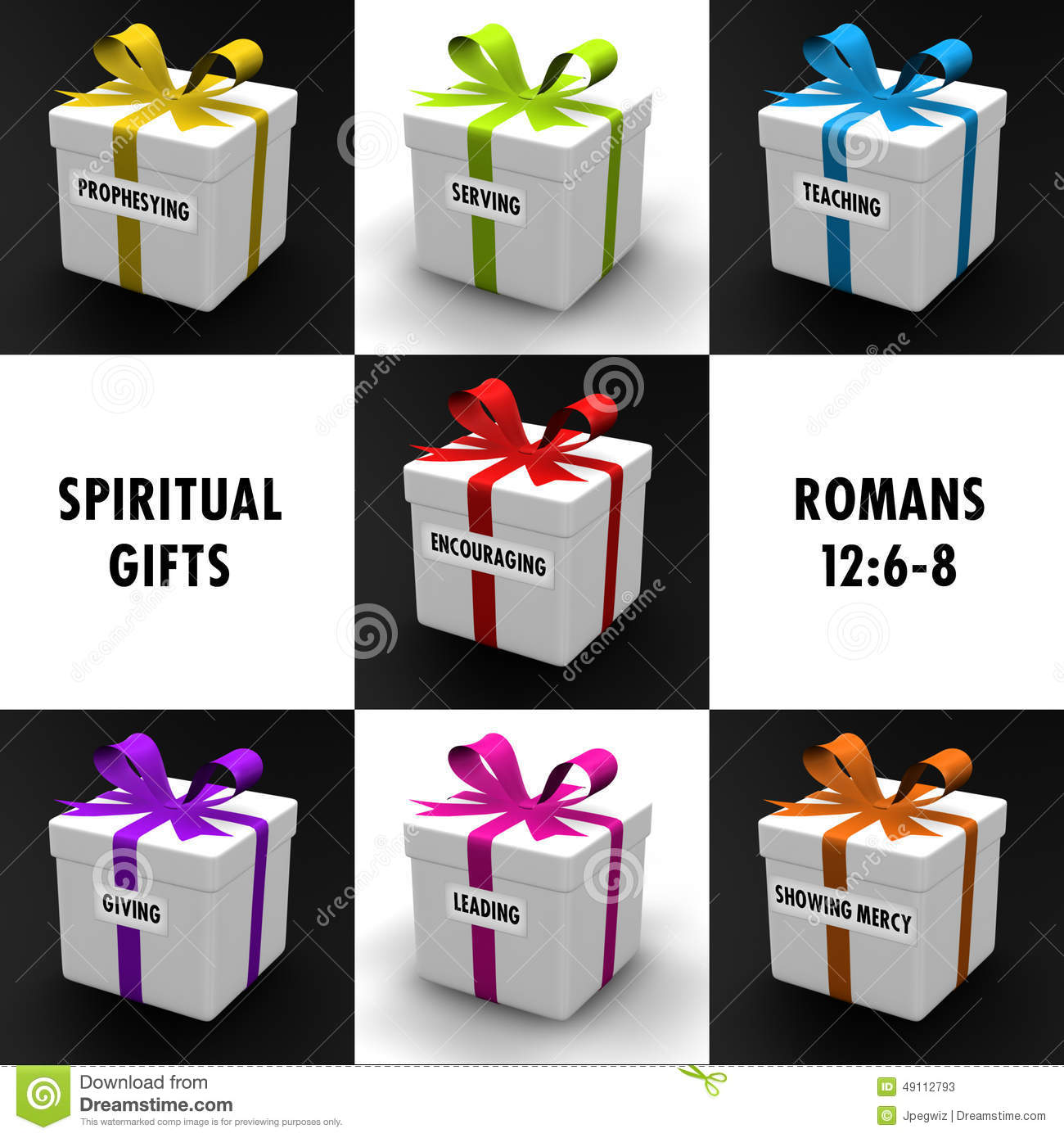 Spiritual Gifts Stock Illustration Image Of Colorful
