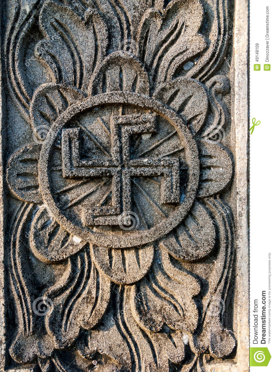 Spiritual hindu symbol swastika on the temple stock image image spiritual hindu symbol swastika on the temple biocorpaavc Gallery