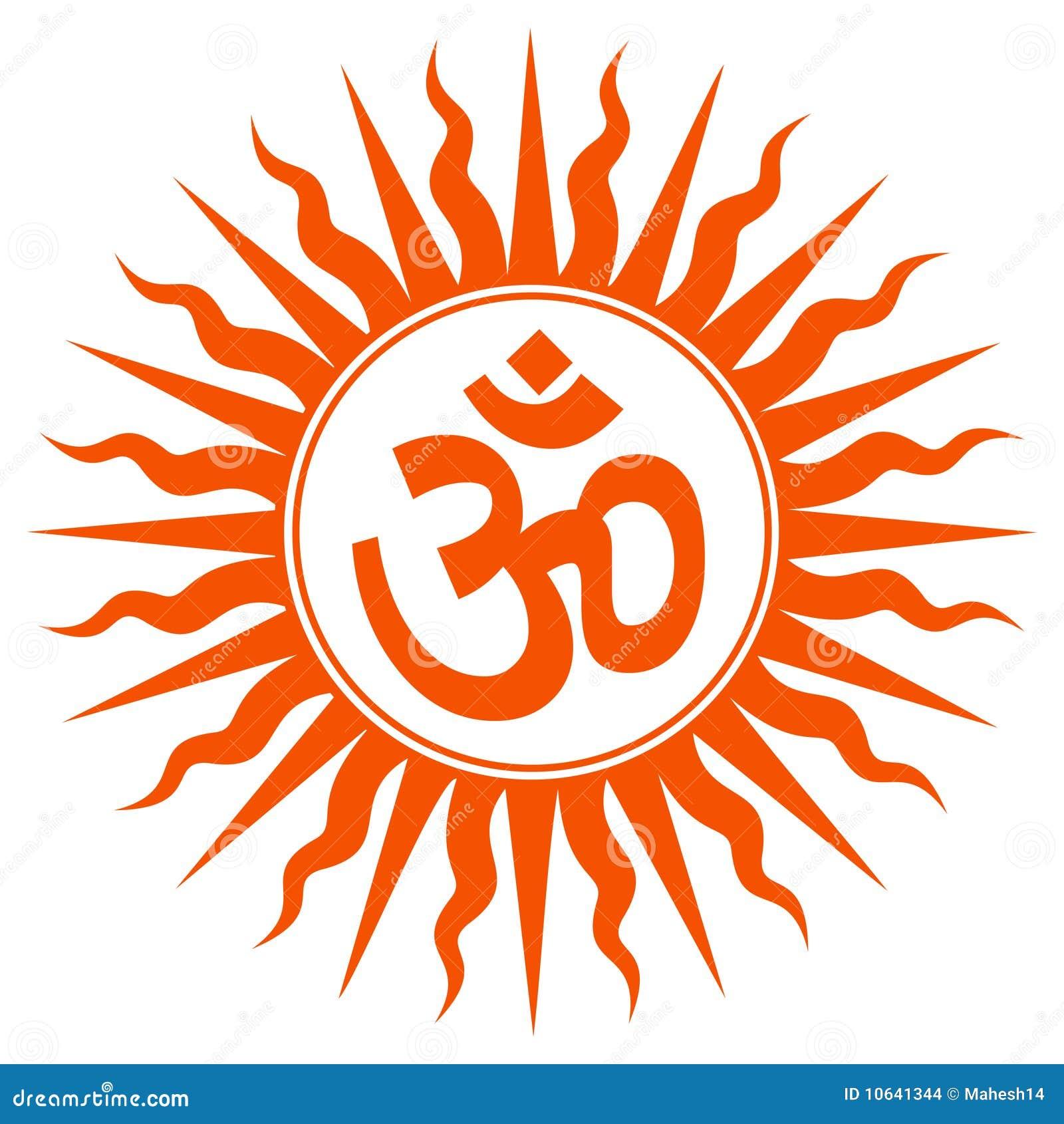 Spiritual Om Sign Stock Illustration Illustration Of Background