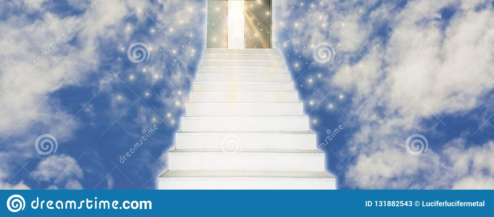 Spiritual Walk to Heaven With stairs leading straight into door