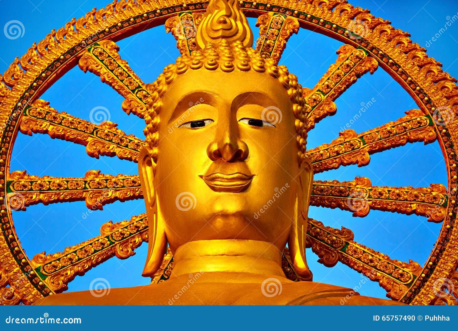 Spirituality Gouden Boedha, Wat Phra Yai Temple, Thailand Reli