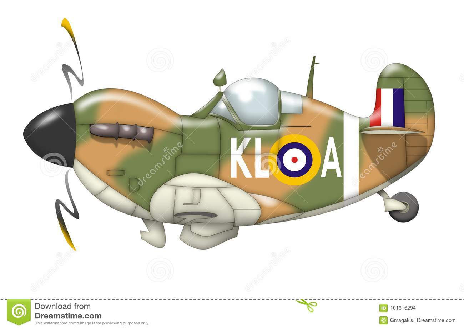 Cartoon Plane Caricature Stock Illustration. Image Of