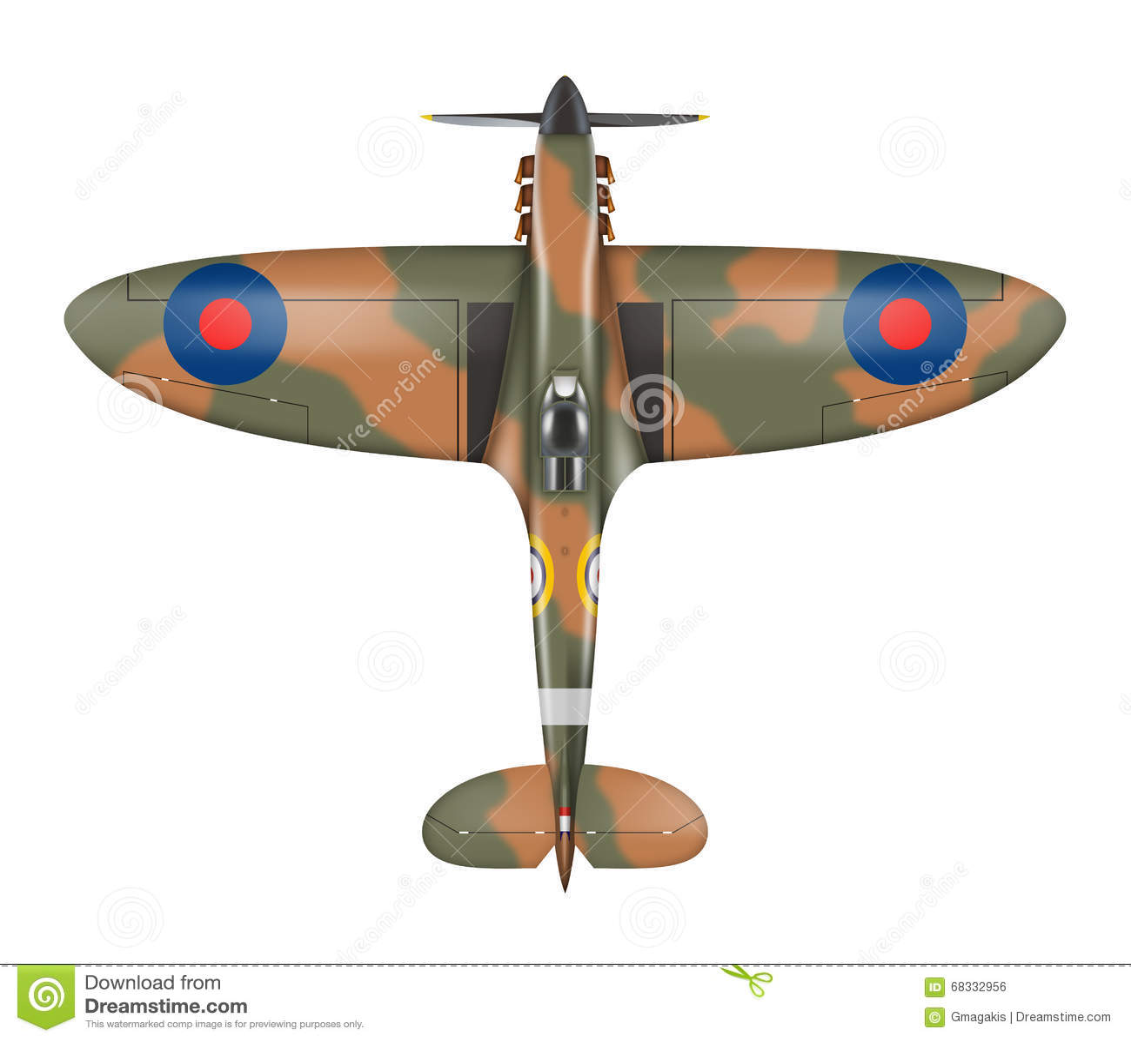 spitfire stock illustration illustration of airplane clip art planes clip art planes