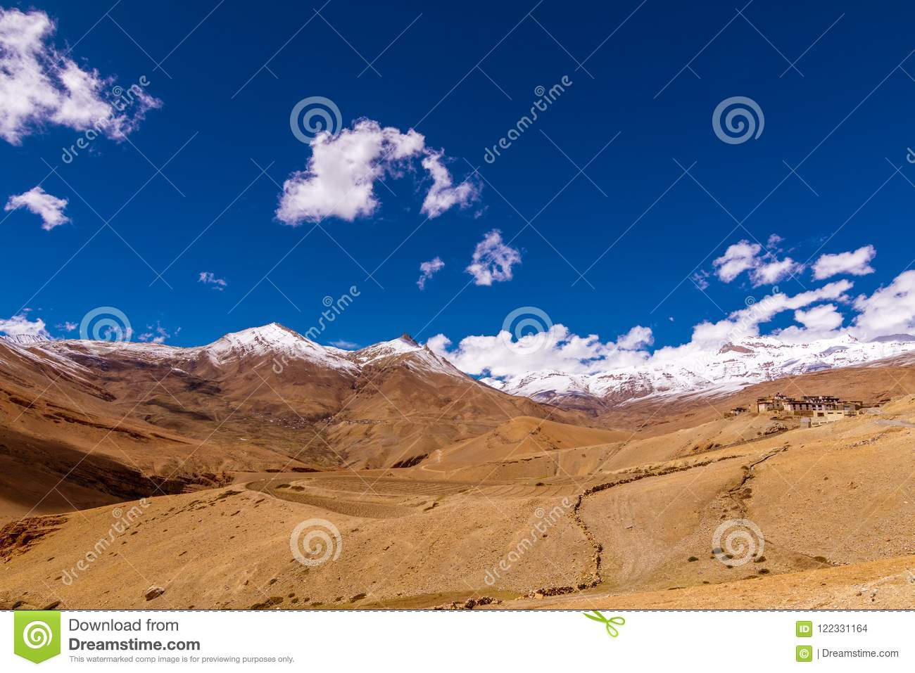 Landscape Of Spiti Valley Himachal Pradesh India The Middle Land