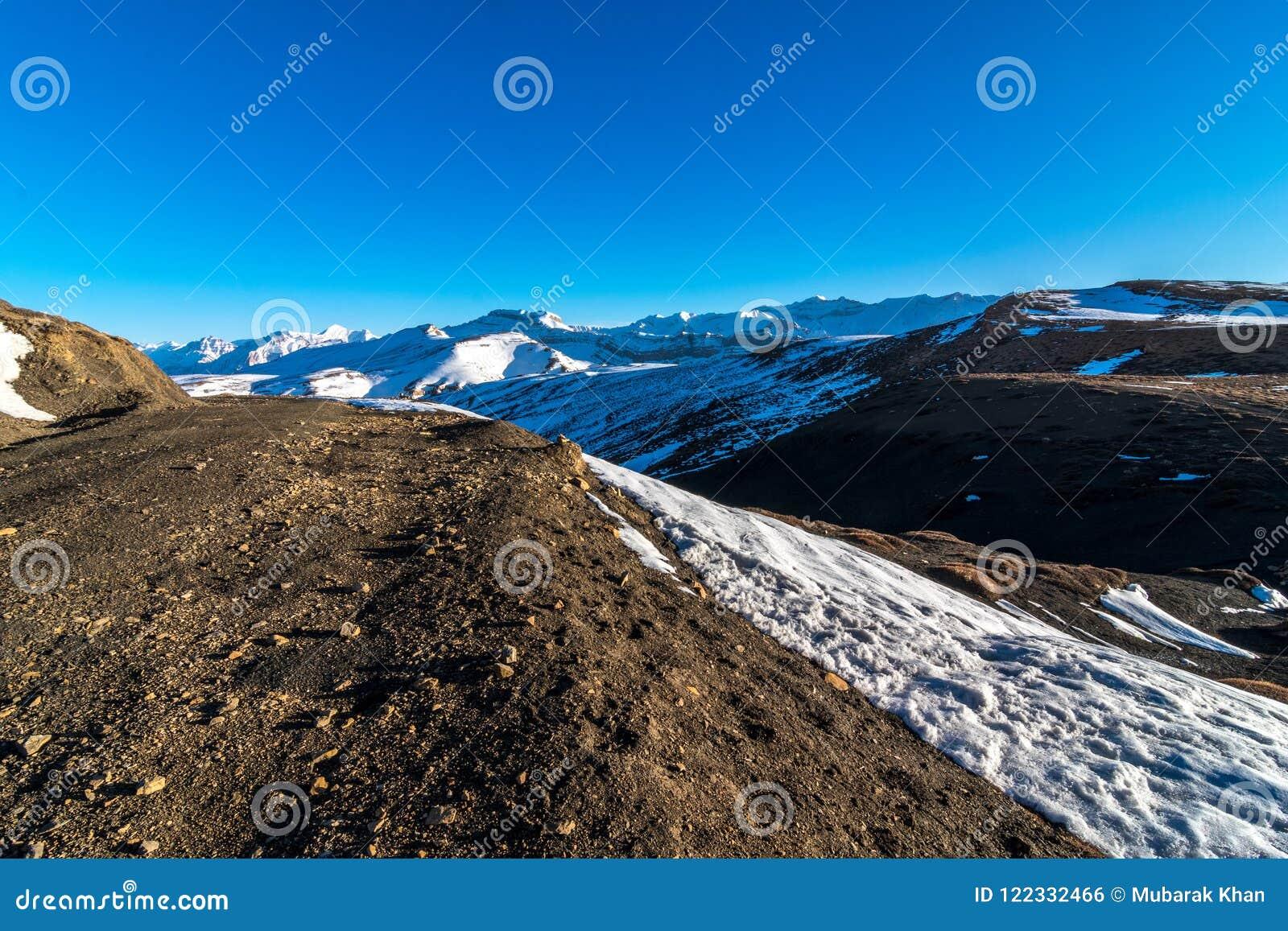 Winter Spiti Landscape Of Spiti Valley Himachal Pradesh India