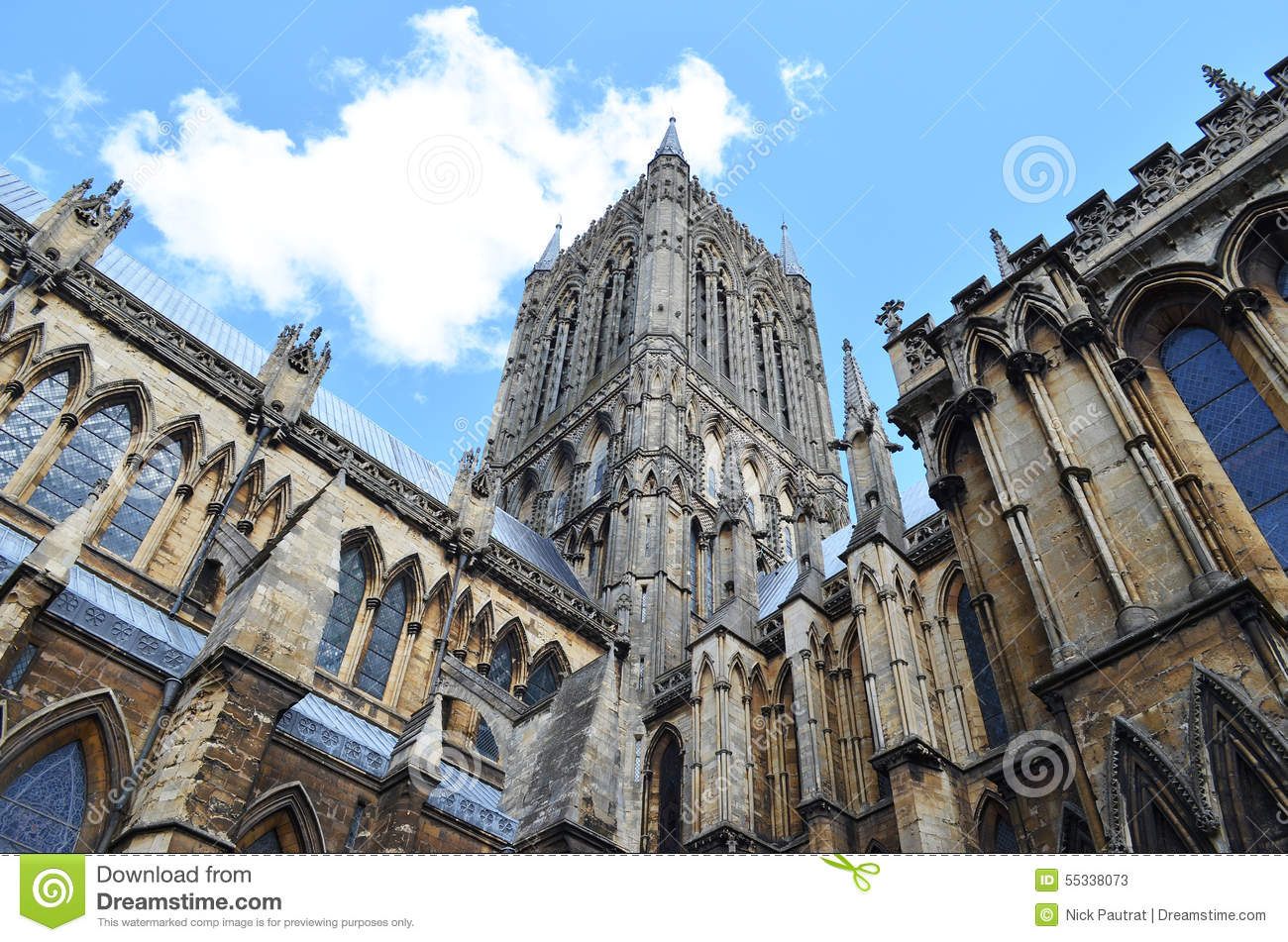 Spits in Lincoln Cathedral, Engeland