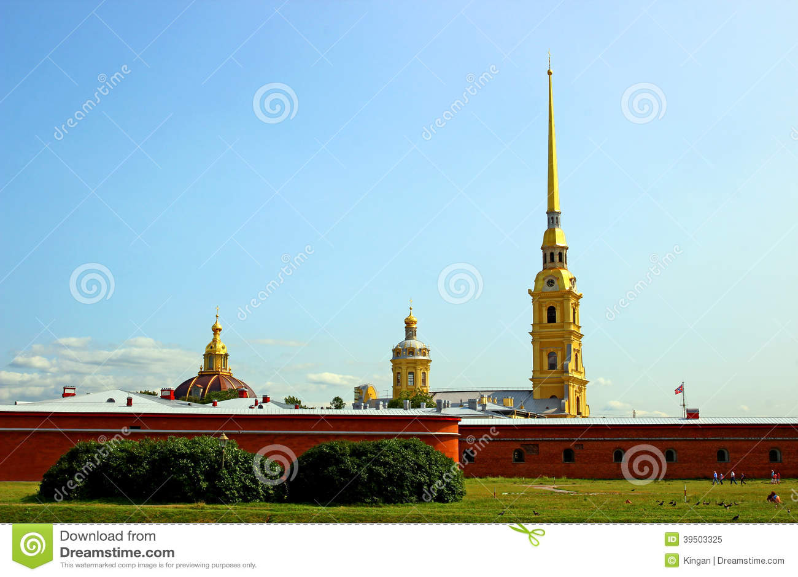 Spits van Peter en Paul Fortress in St. Petersburg
