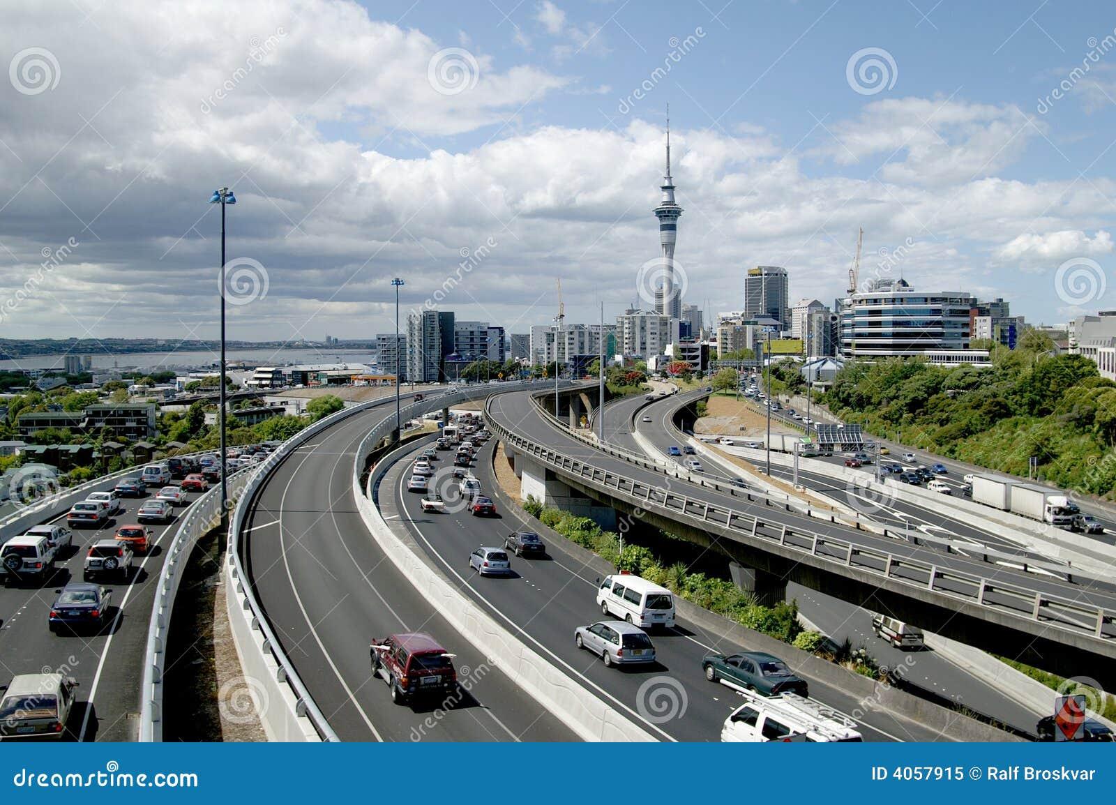 Spitsuur in Auckland, Nieuw Zeeland