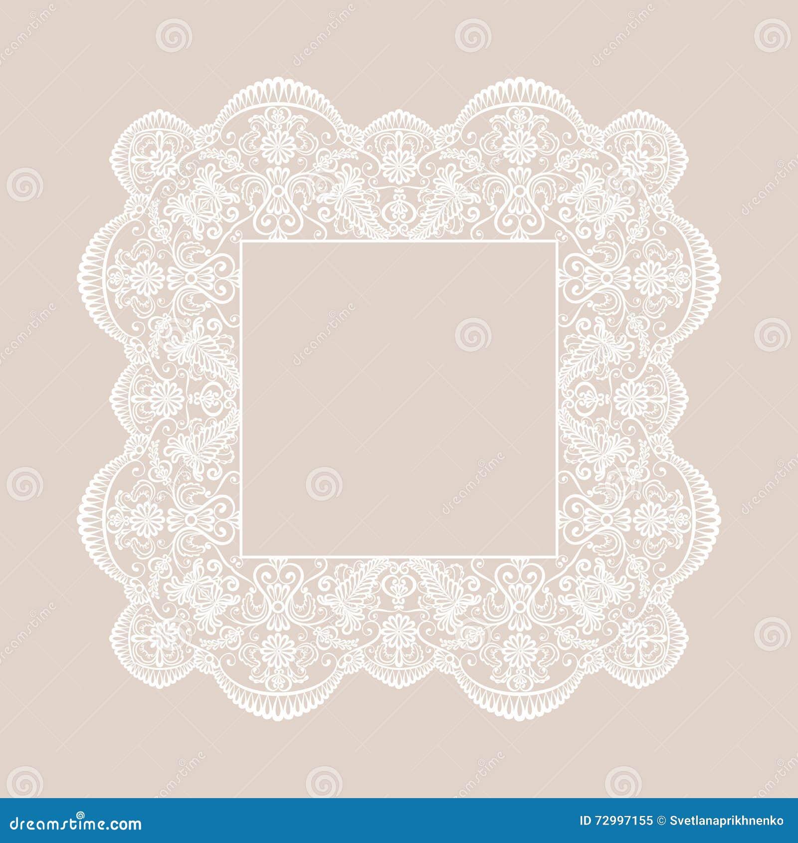 Spitze-quadratischer Rahmen Vektor Abbildung - Illustration von ...
