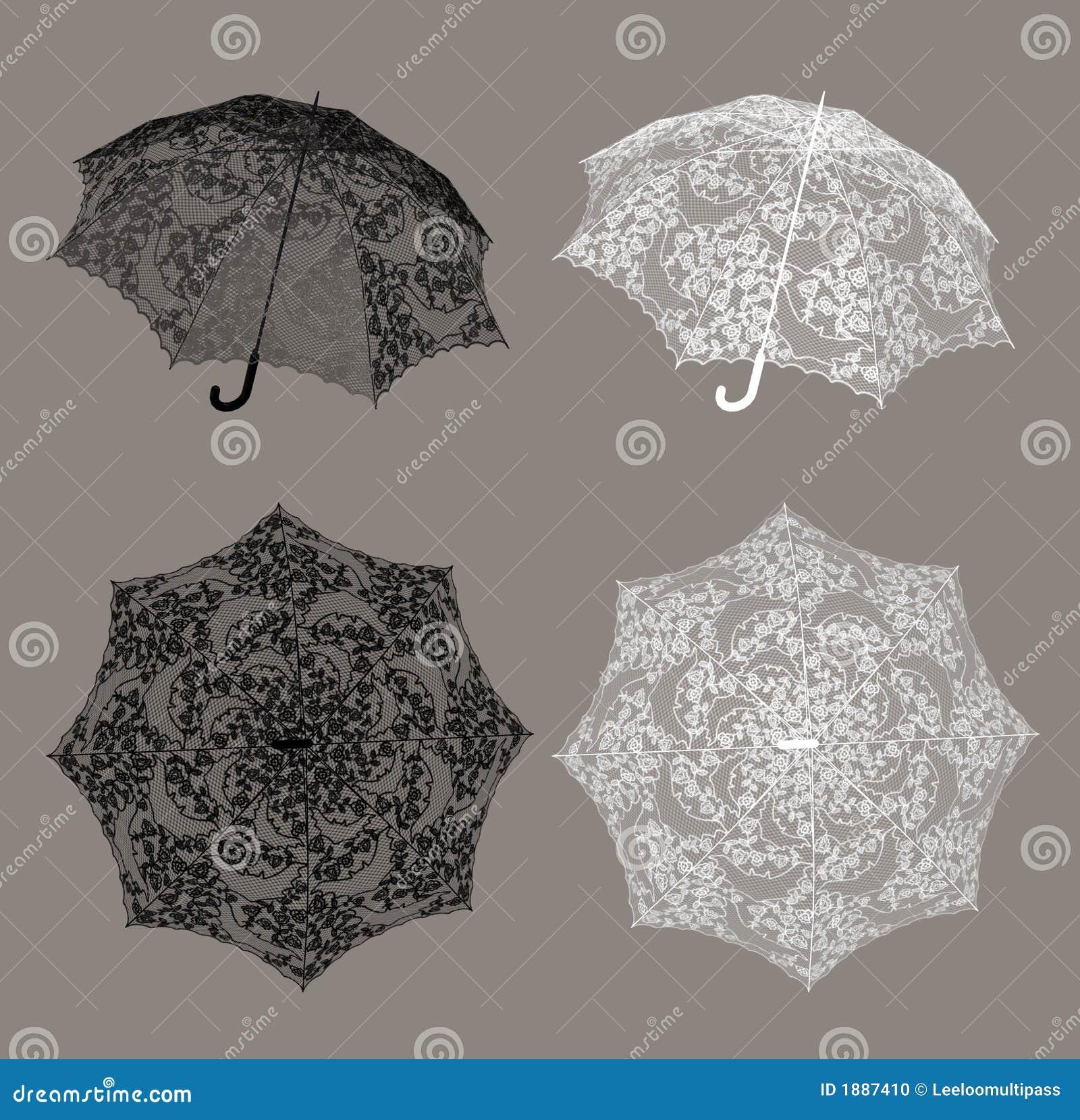 Spitze-Regenschirm