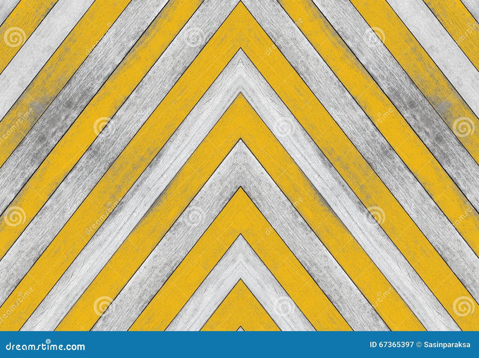 Spitzer Winkel Alte Weisse Und Gelbe Holzerne Beschaffenheit Stock