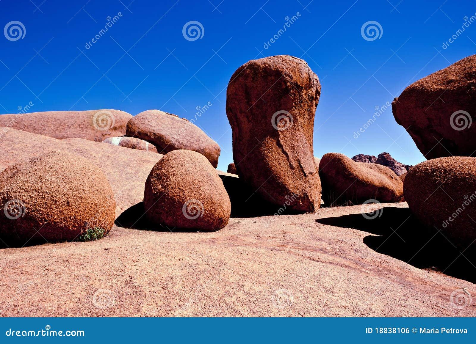 Spitzkoppe för bildandenamibia rock