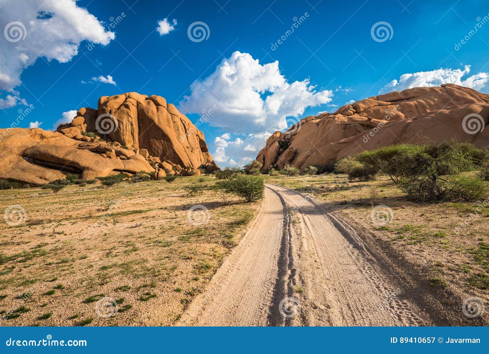 Spitzkoppe, formação de rocha original em Damaraland, Namíbia