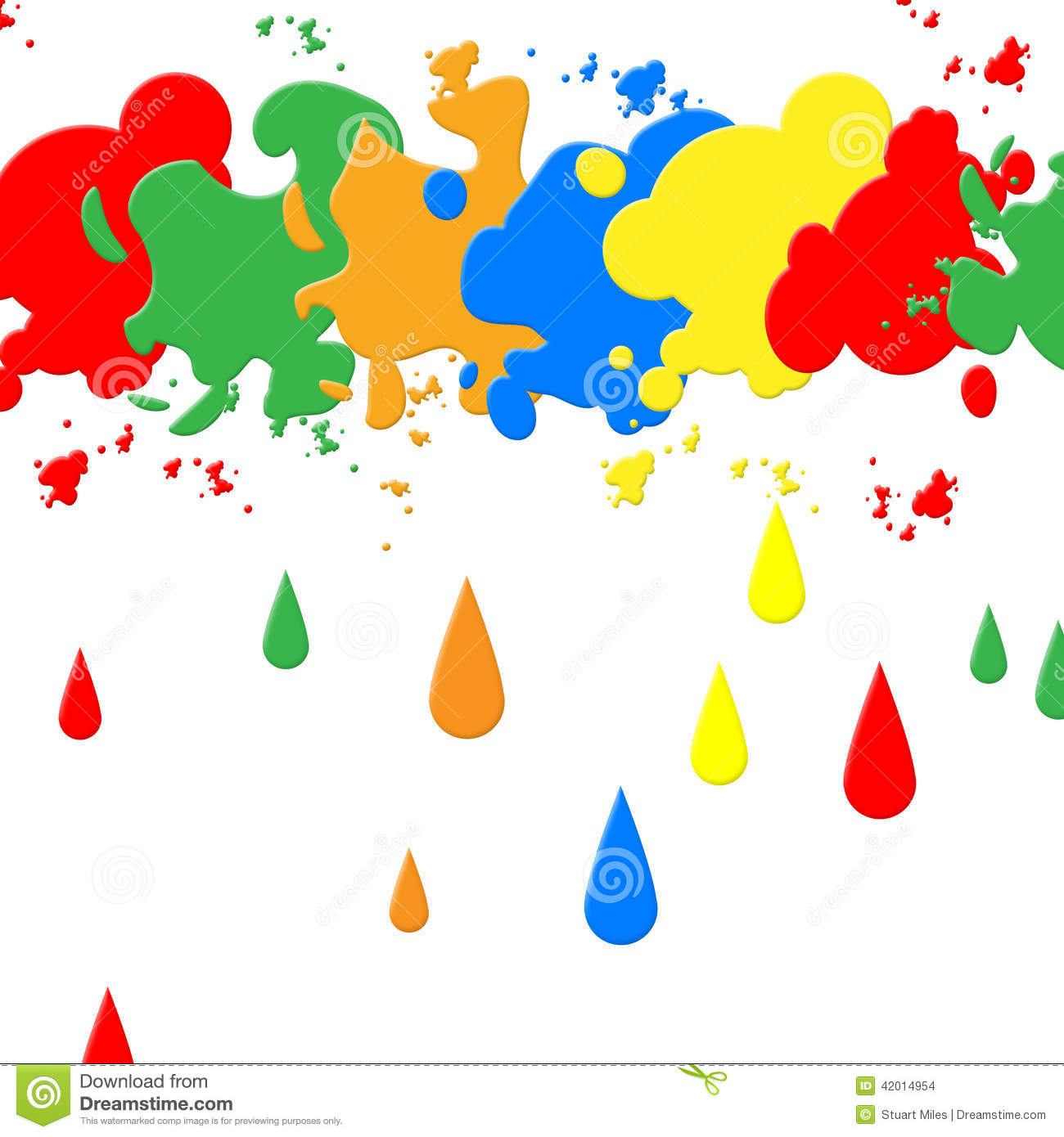 Splash Background Indicates Paint Colors And Backdrop