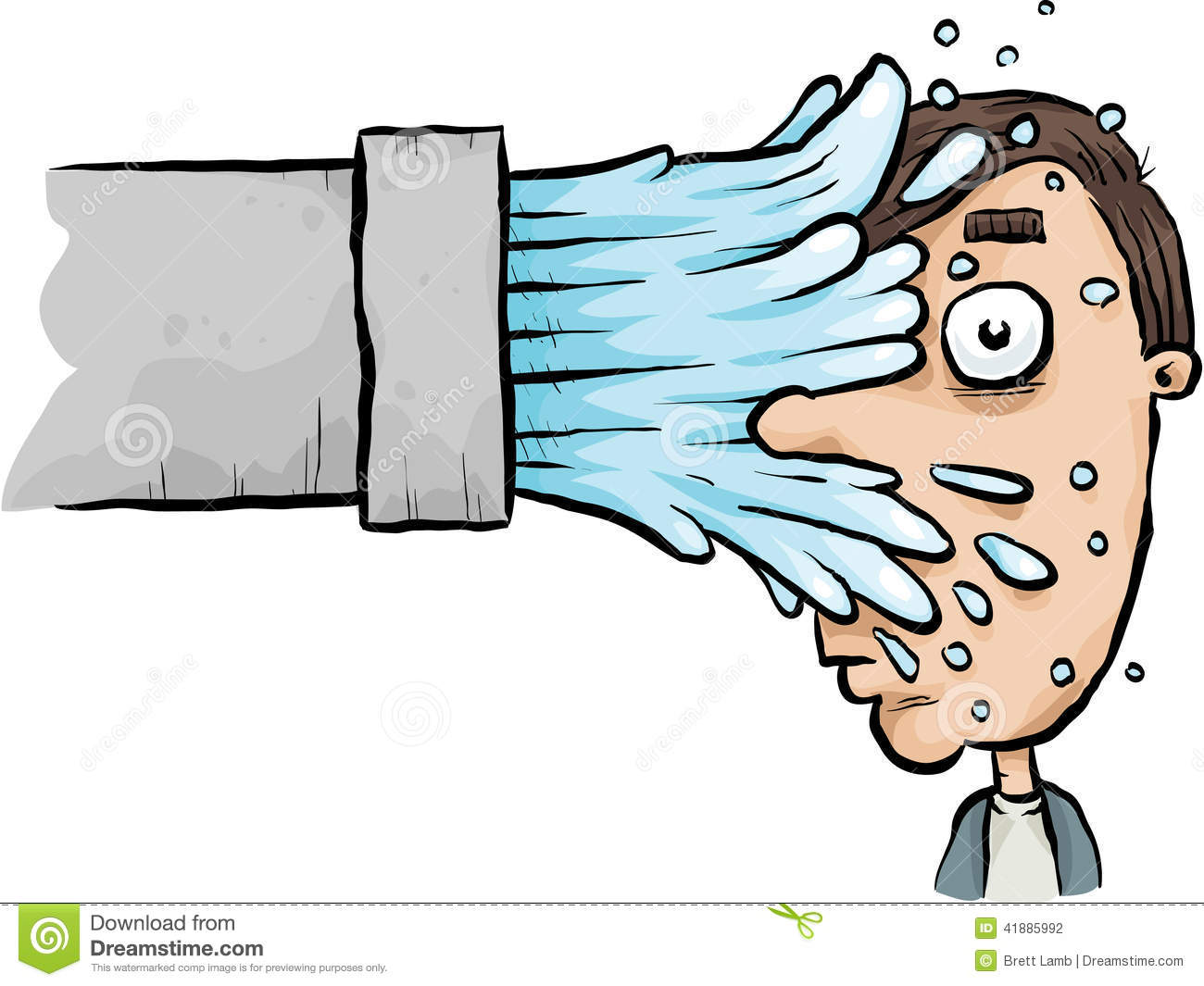 Splash Face Stock Illustration Image 41885992