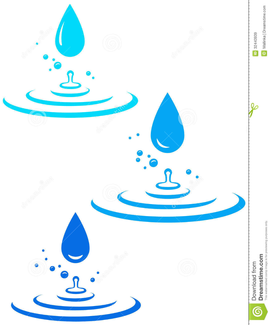 Splash With Many Water Drops Royalty Free Stock Images