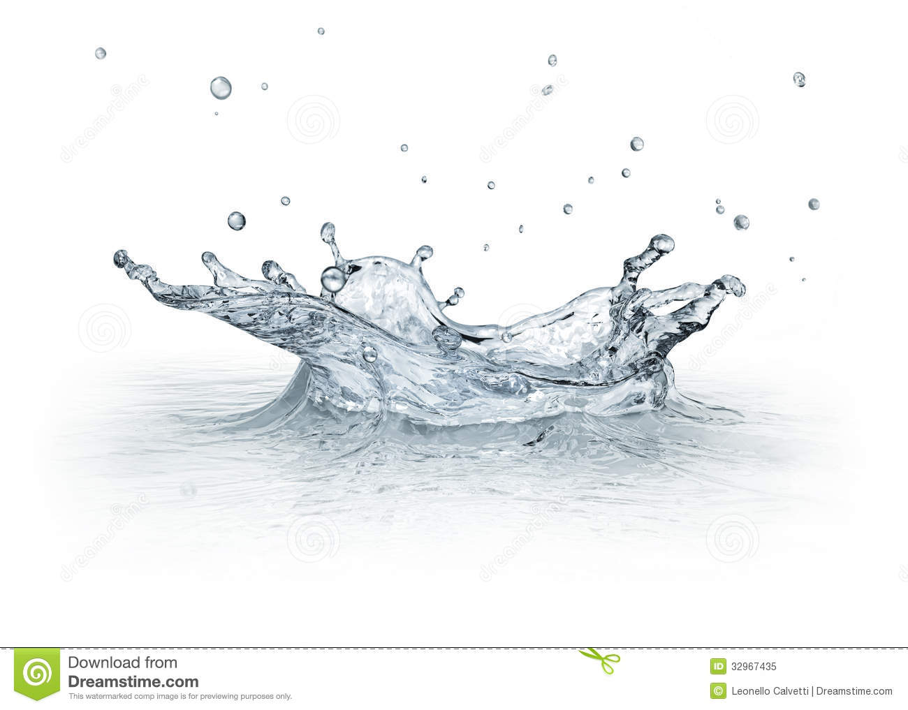 Splash Water Isolated On White Background. Royalty Free ...