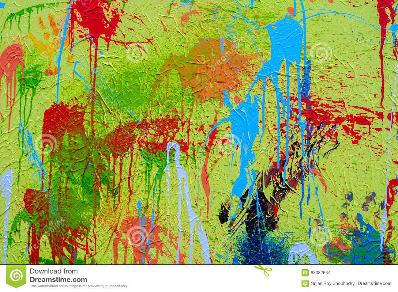 Splashes Of Different Colours On Canvas Holi Stock Photo - Image of ...