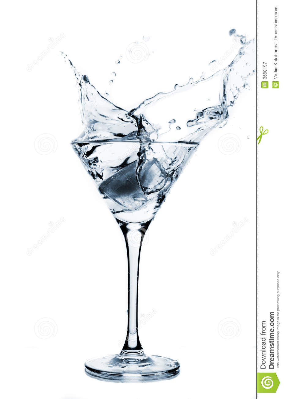 "Buy Stock Photo ""Image of splash in martini glass"" 