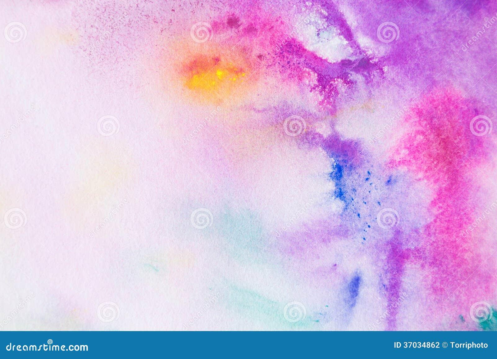 Как сделать цветной фон акварелью