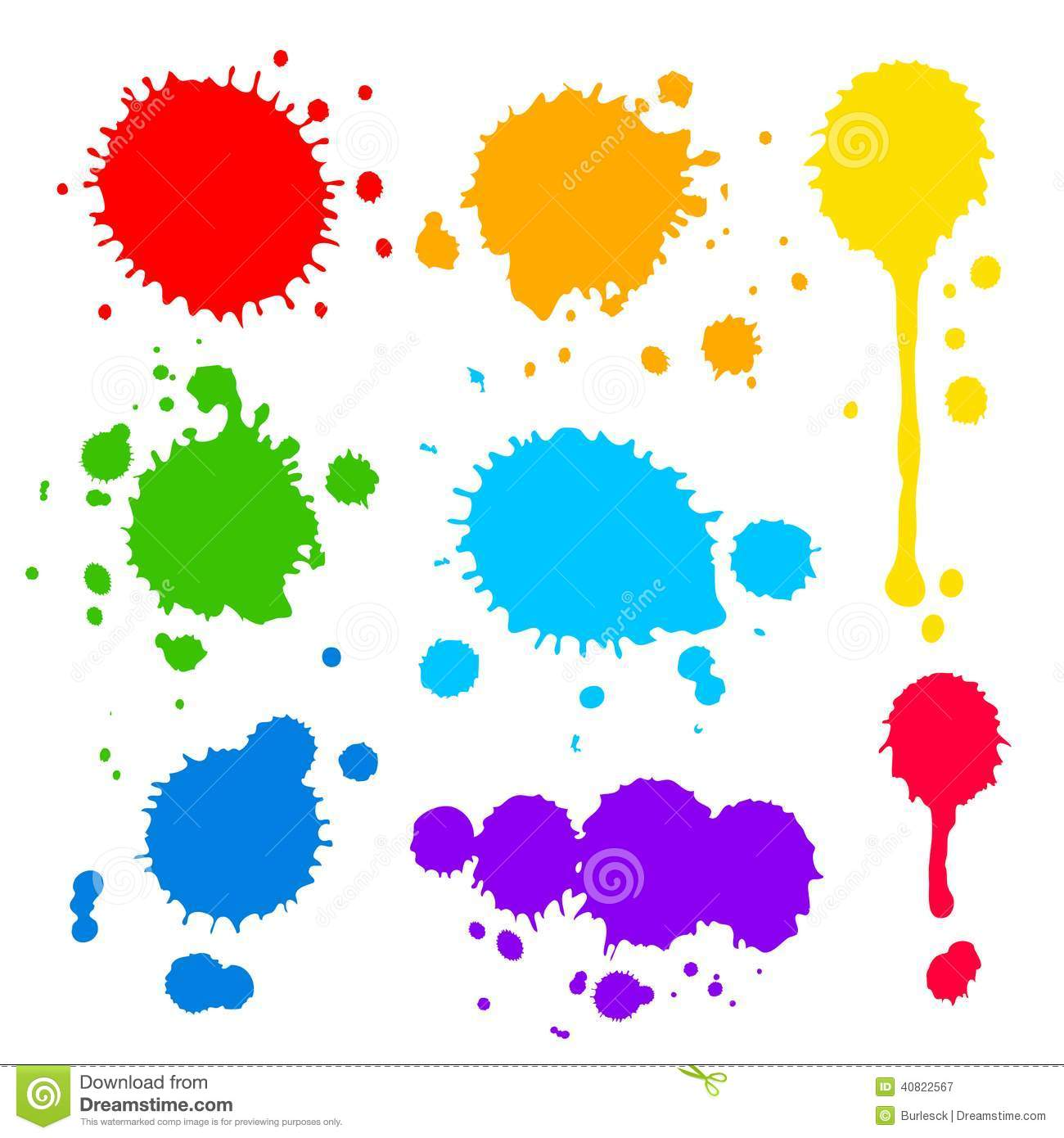 splats and blobs of colored paint stock vector image 40822567. Black Bedroom Furniture Sets. Home Design Ideas