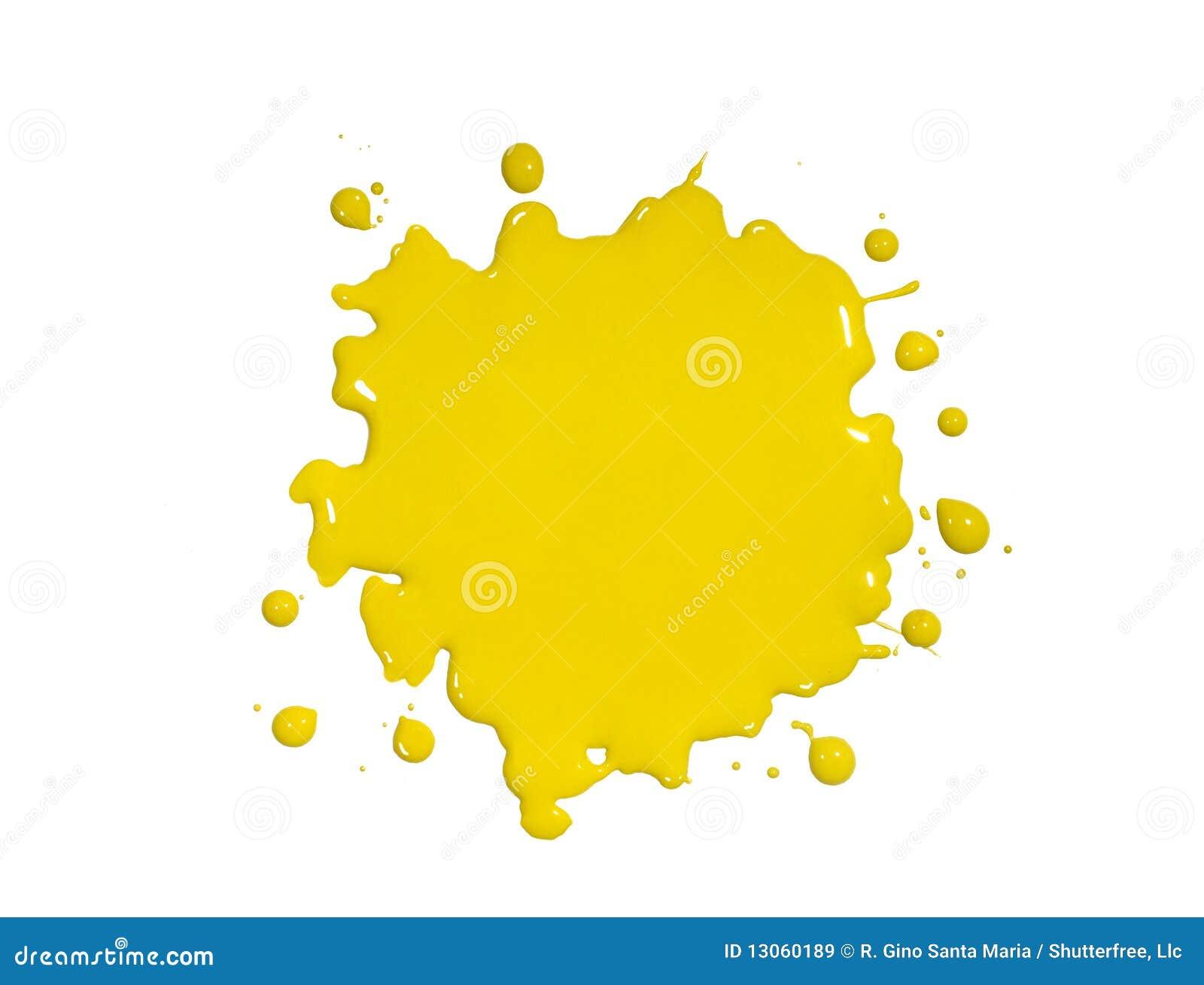 Splatter amarelo da pintura