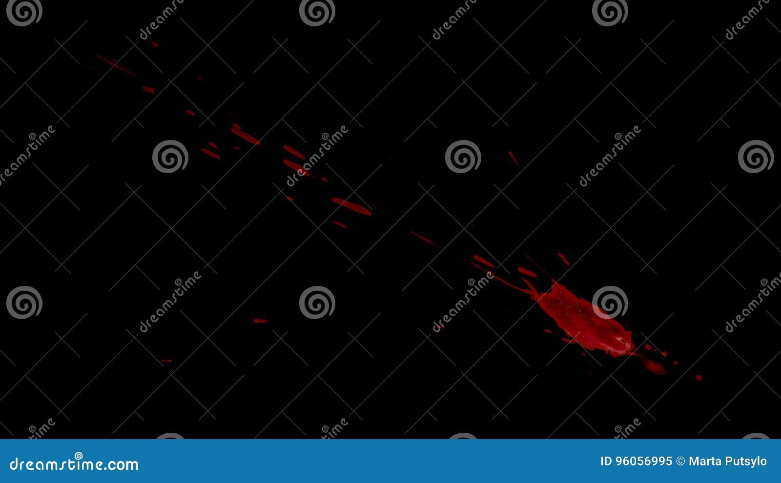 Splattered Blood Element stock video  Video of alpha - 96056995