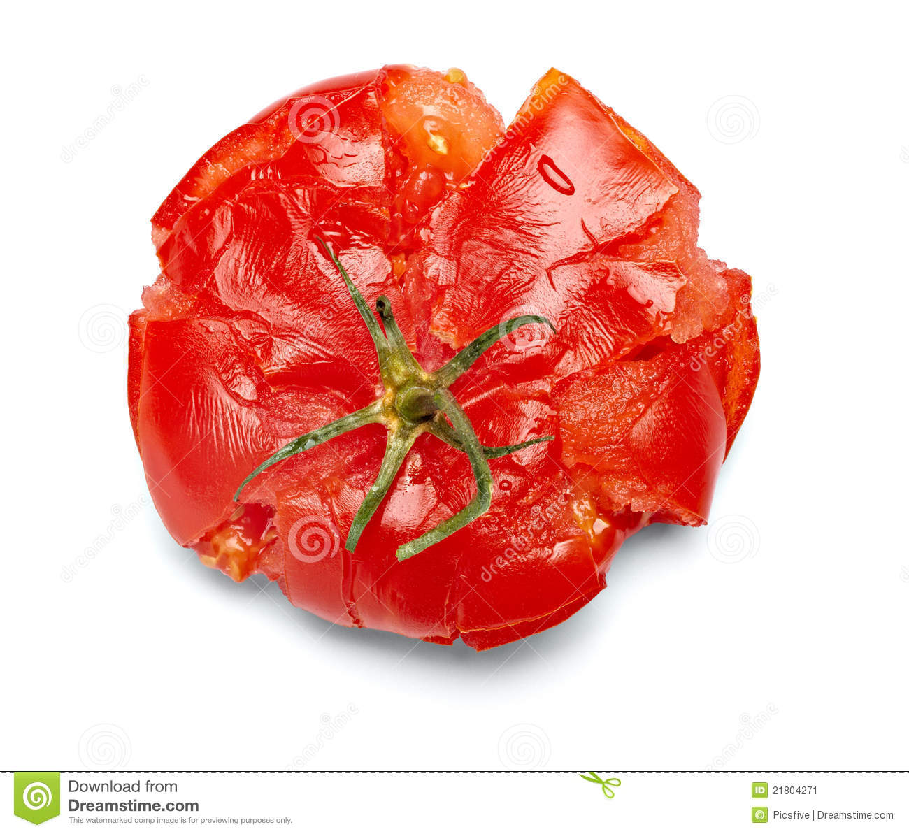 Splattered tomato