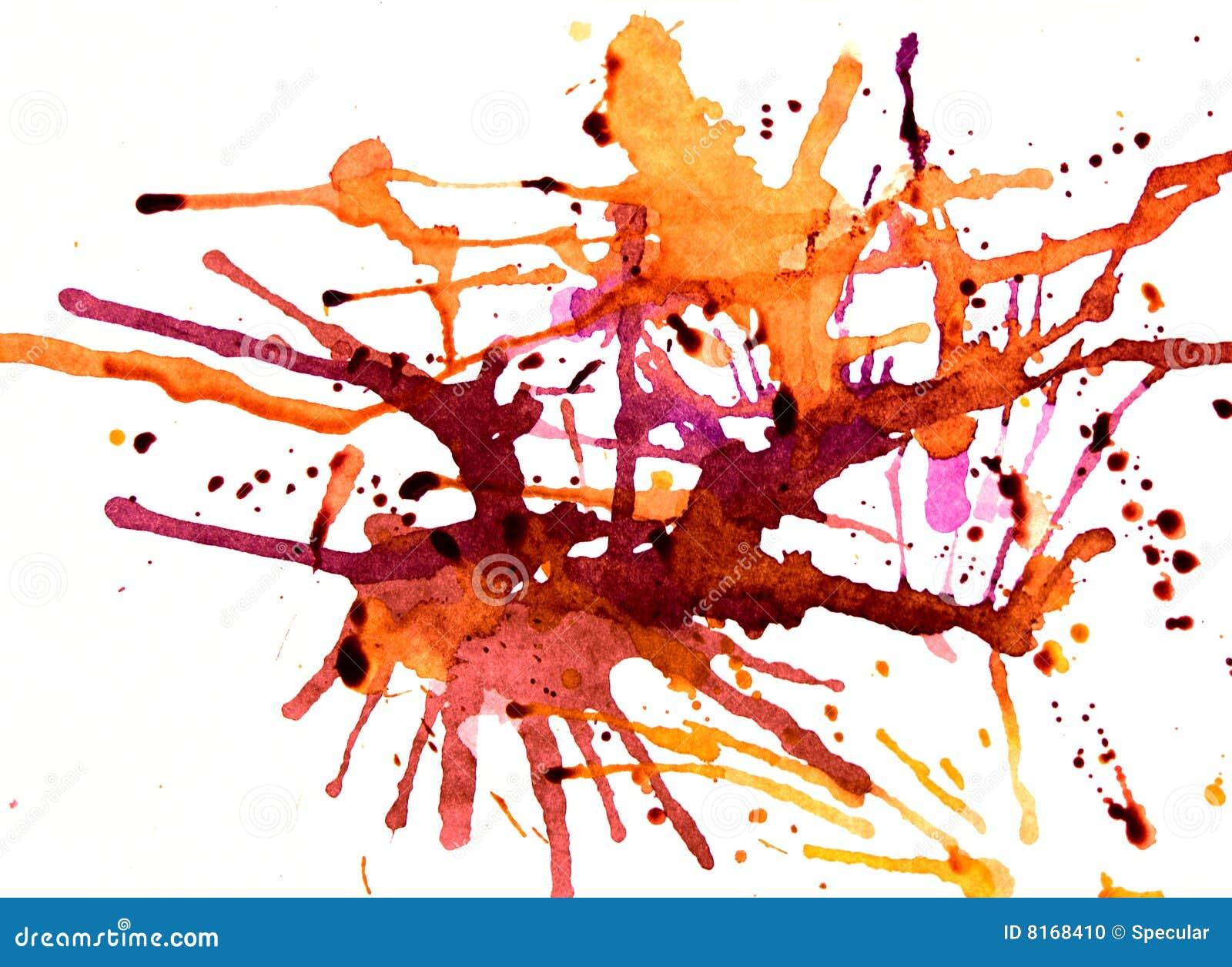 Splatters vibranti dell ambra