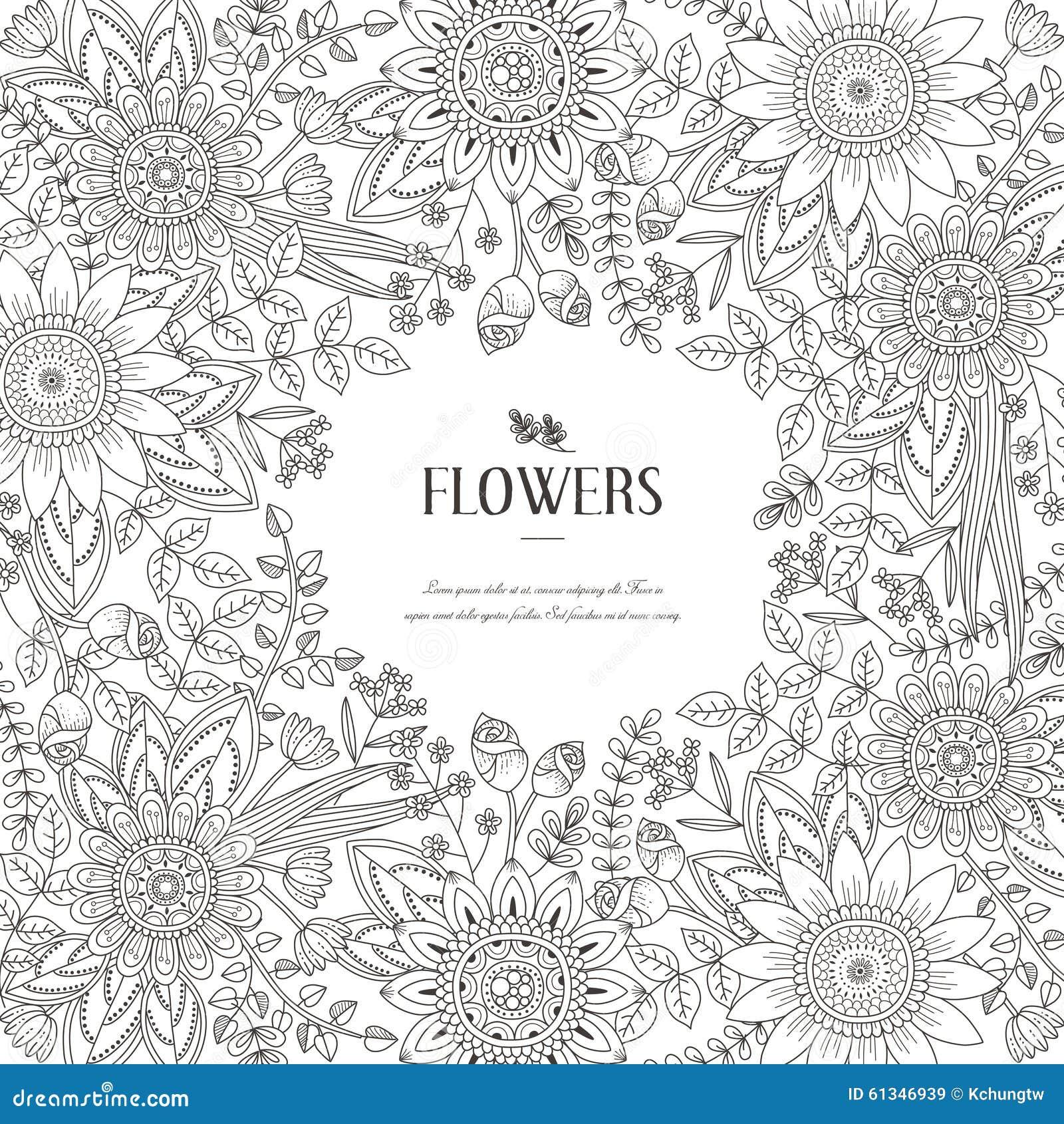 Splendid Flower Frame Stock Vector Image 61346939