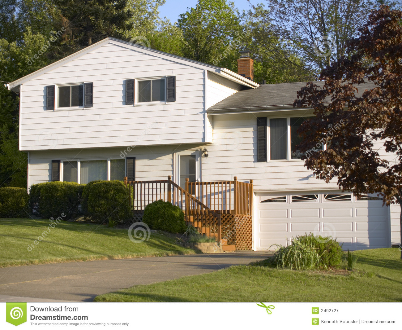 split level house stock image image of garage step
