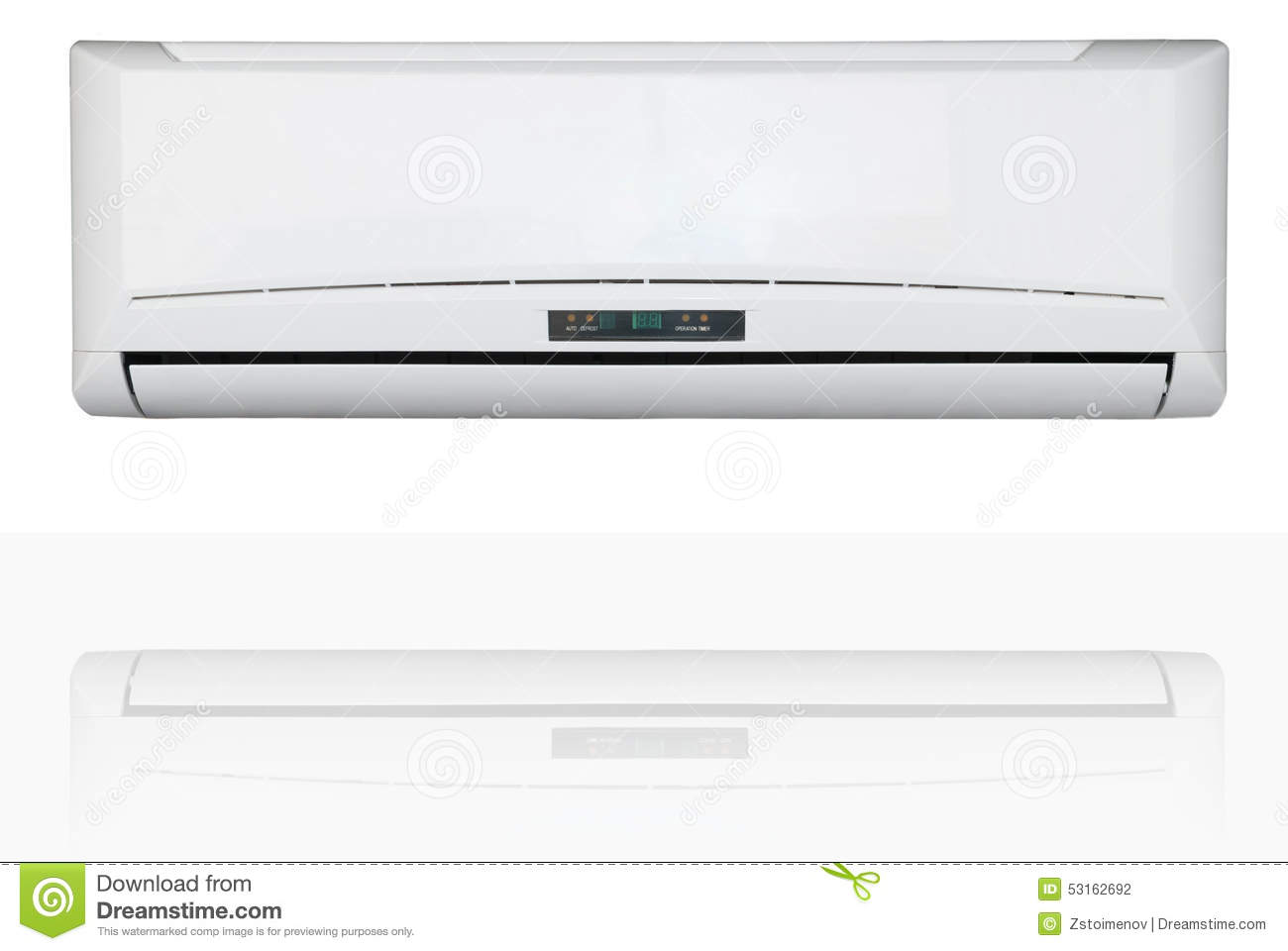 Split system air conditioner isolated on a white background with  #85A724