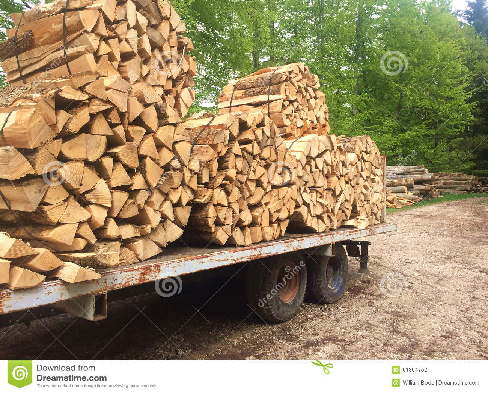 Split wood loaded