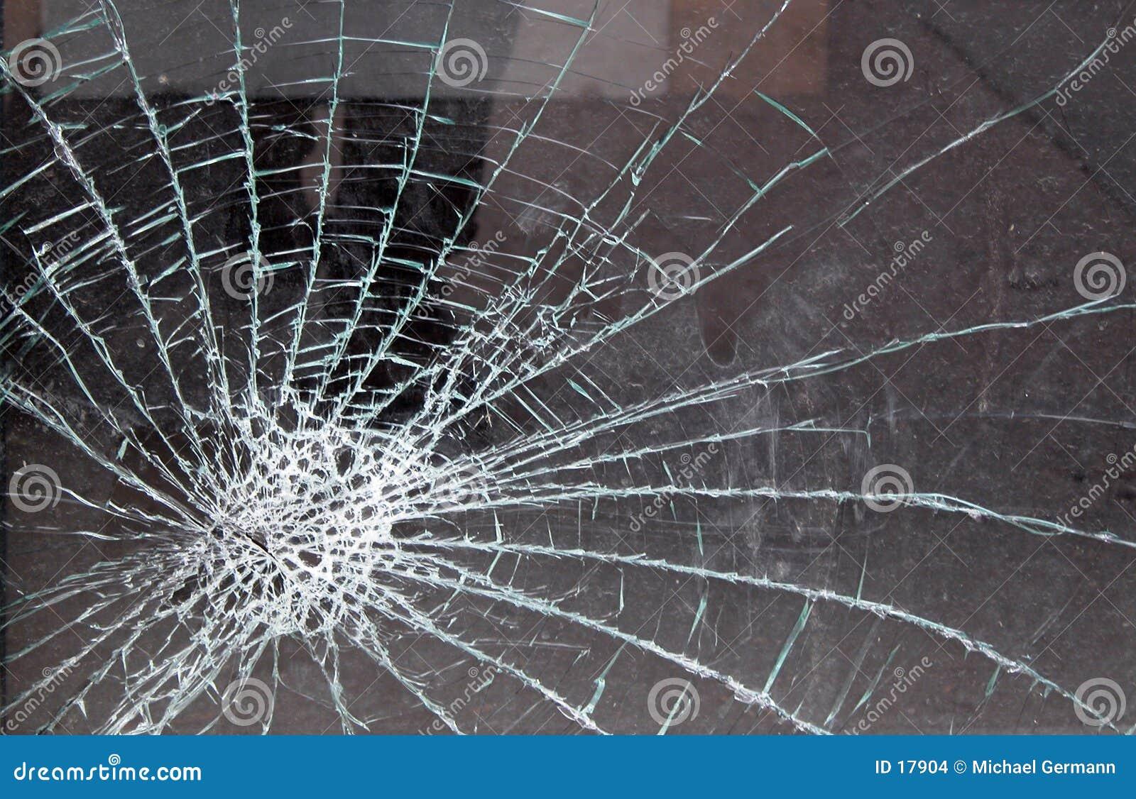Splittrat exponeringsglas