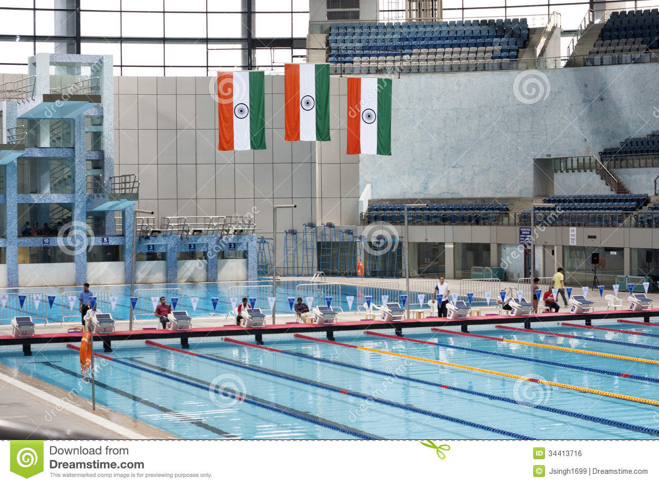 Spm Swimming Pool In New Delhi India Editorial Photo Image Of Water Sports 34413716