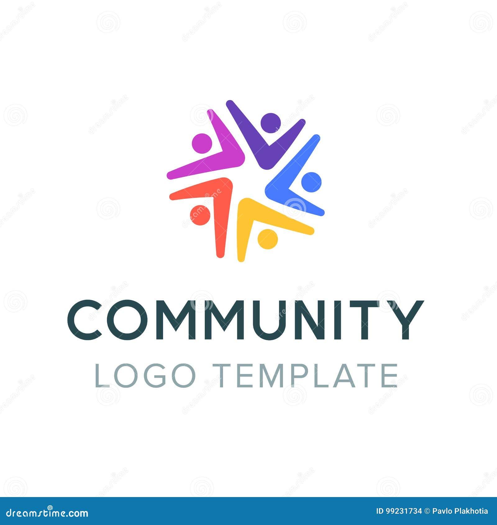 Społeczność logo Praca zespołowa socjalny logo Partnerstwo symbol Ludzie komunikacyjnego symbolu szablonu