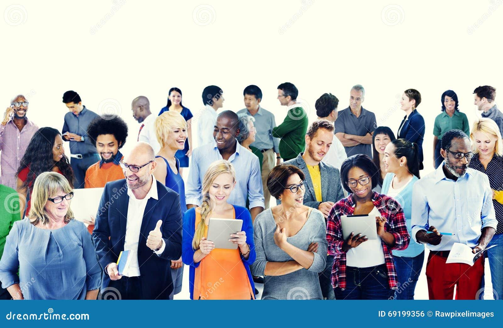 Społeczności przyjaźni Komunikacyjnego pojęcia Przypadkowi ludzie