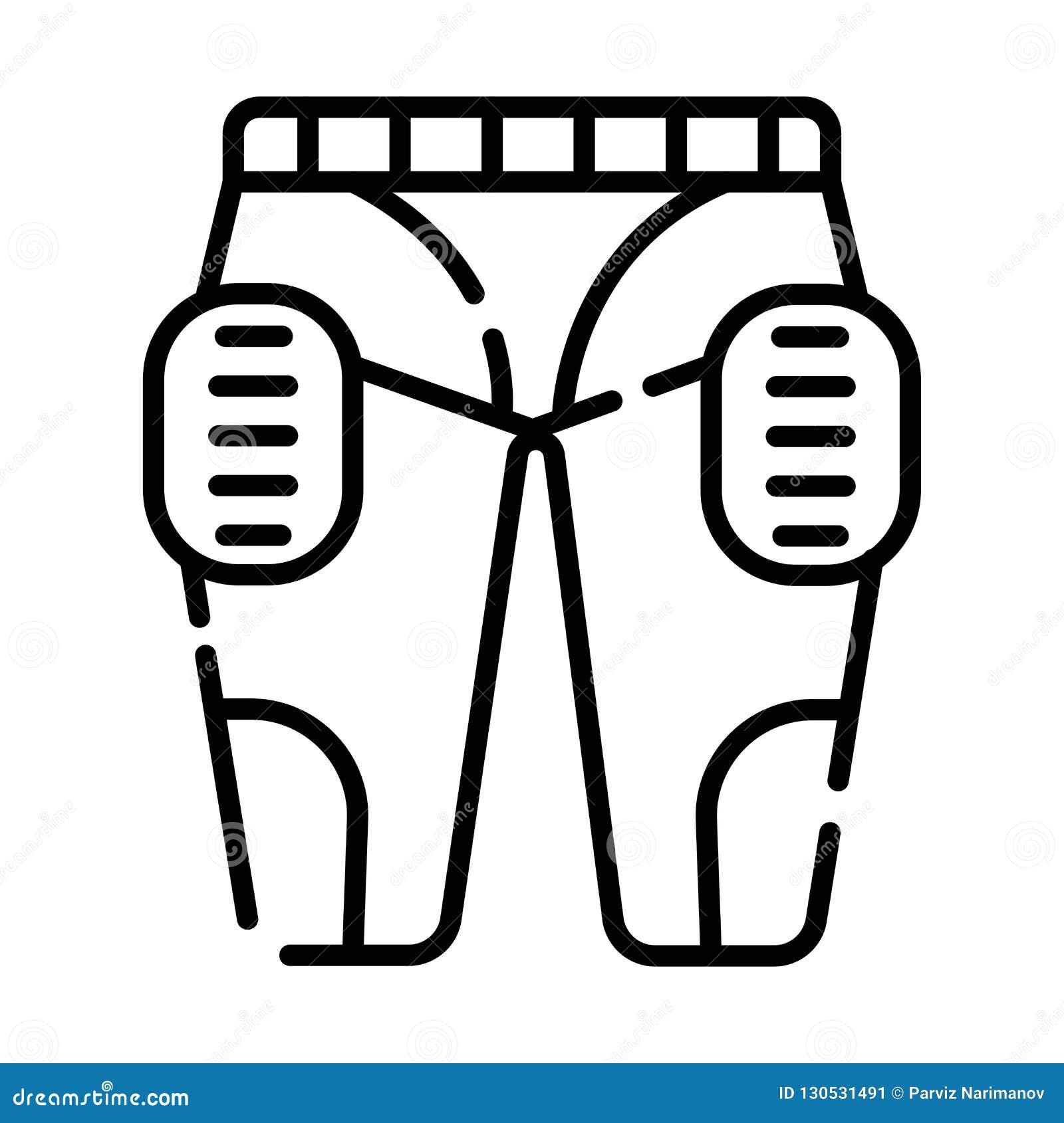 Spo Masculino De La Proteccion Del Futbol Americano De Los Pantalones De Los Hombres Uniformes De La Ropa Stock De Ilustracion Ilustracion De Uniformes Proteccion 130531491