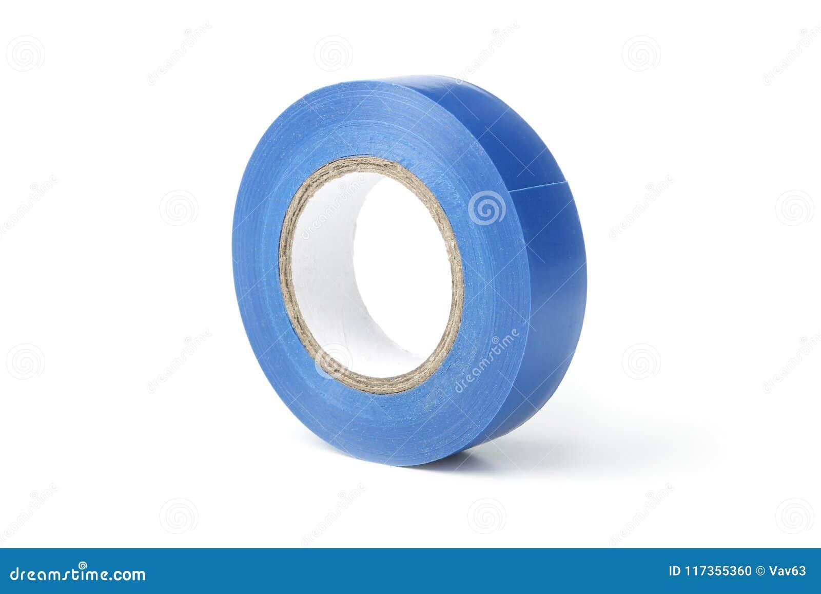 Spoel van blauwe elektroband