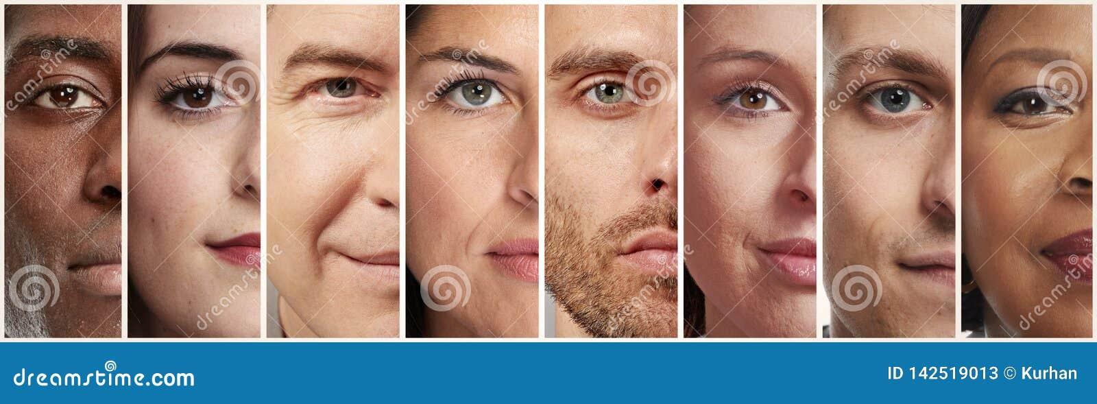 Spokojni ludzie twarzy