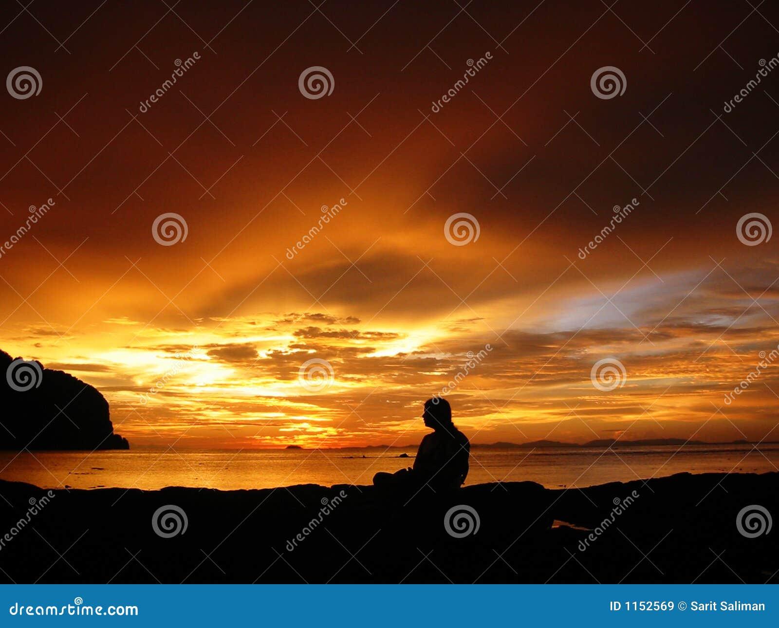 Spokojnie sunset Thailand