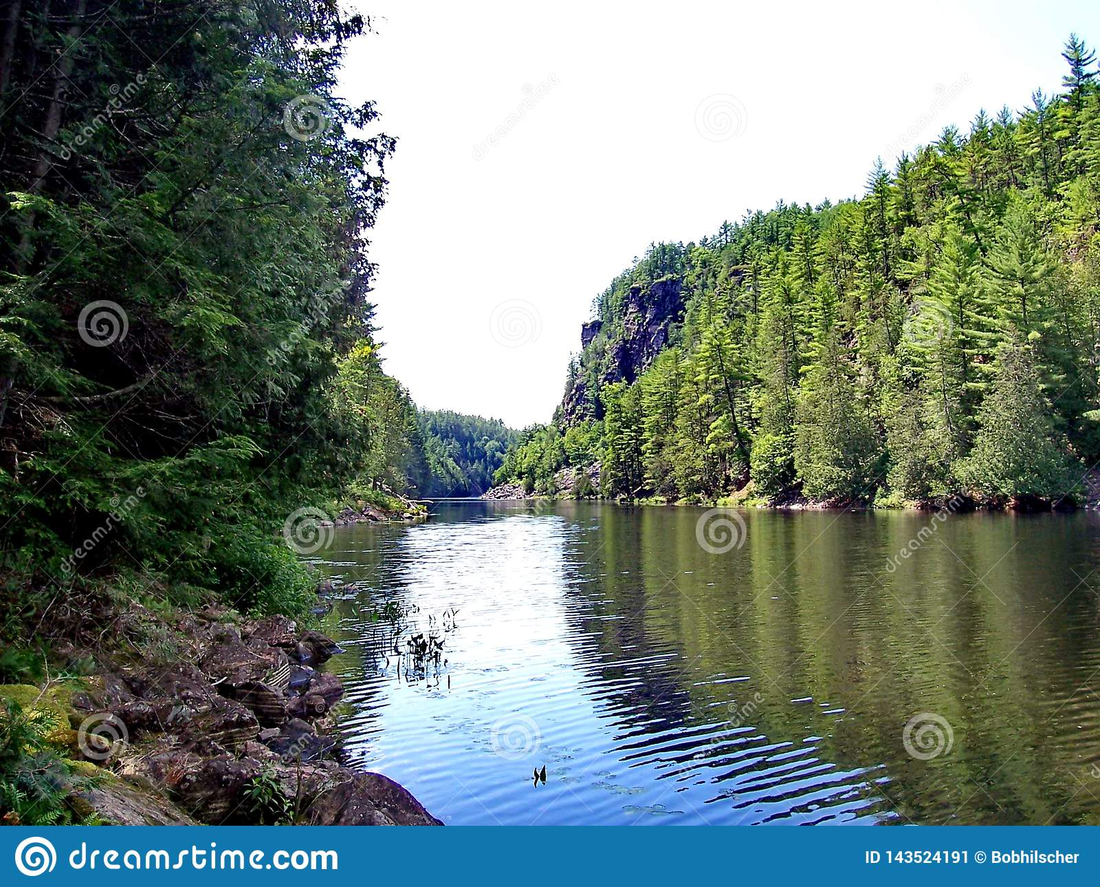 Spolande flod till och med Barron Canyon