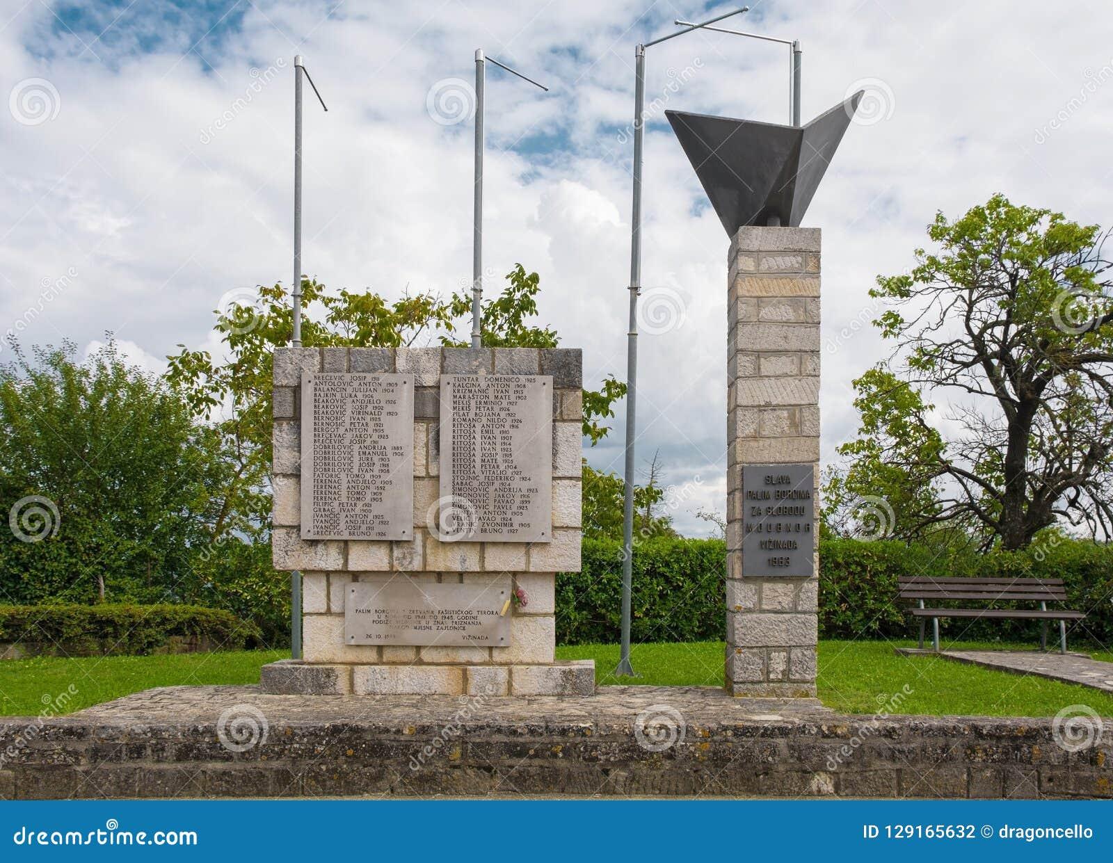 Spomenik в Vizinada
